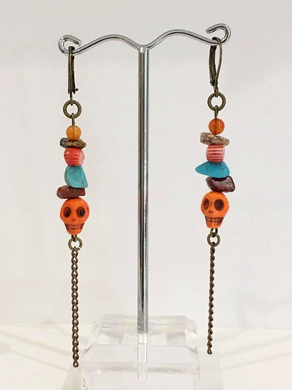 Boucles d'Oreilles Viva la Vida- Collection Frida Kahlo