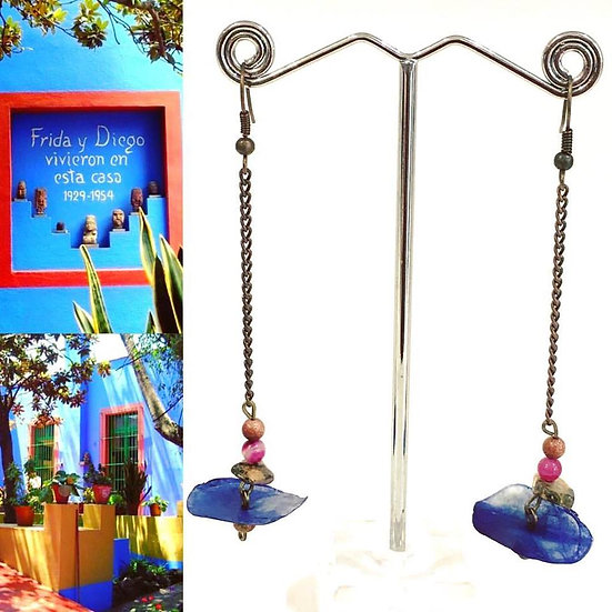 Boucles d'oreilles Casa Azul  - Collection Frida Kahlo