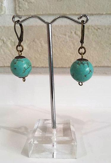 Boucles d'oreilles Turquoise-Collection Grèce