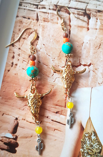 Boucles d'oreilles Nomade Sun - Collection Boho Love