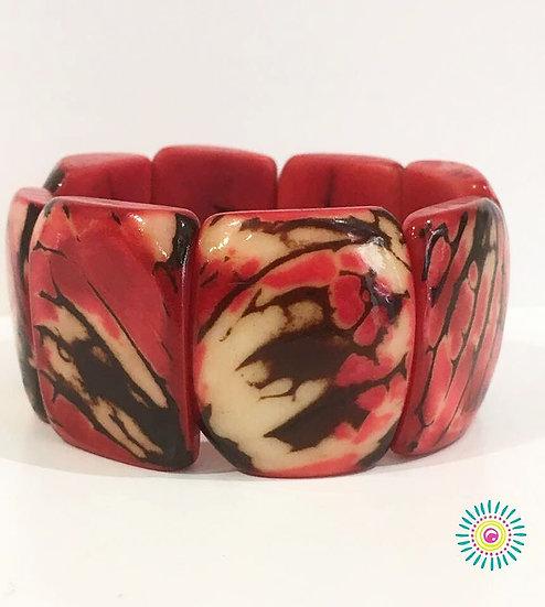 Bracelet Tagua Rojo Pasión