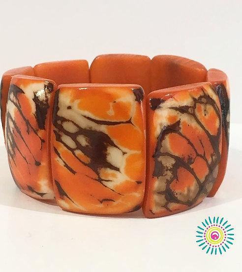 Bracelet Tagua Naranja