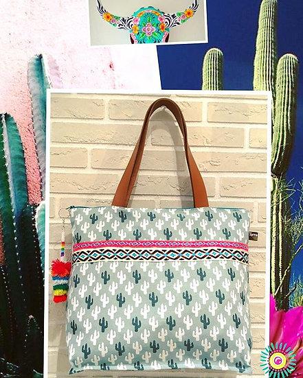 Cabas Cactus Bohème