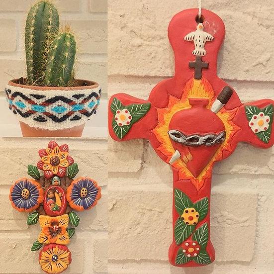 Croix décorative Frida Corazon