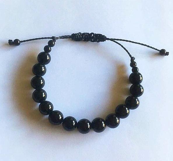 Bracelet Onyx  - réglable