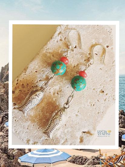 Boucles d'oreilles Méditerranée by Lucia Veneto