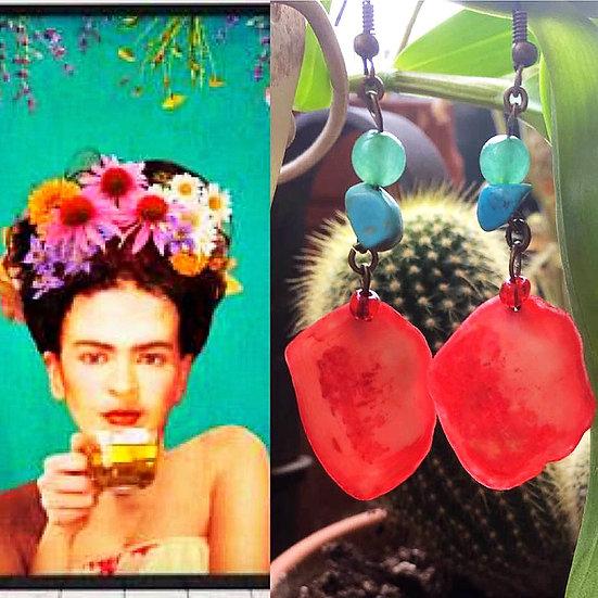 Boucles d'oreilles Corazón Rojo  - Collection Frida Kahlo