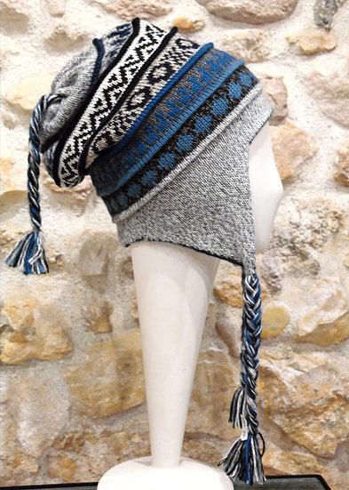 Bonnet péruvien en alpaga réversible Apu