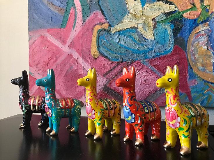 Lama décoratif - Cordillère des Andes