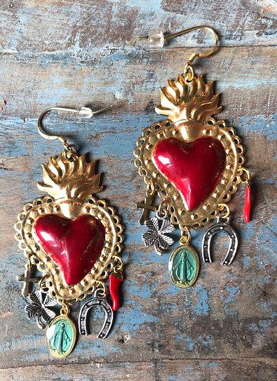 Boucles d'Oreilles Ex-Voto Frida