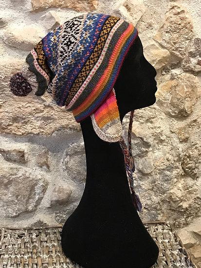 Bonnet péruvien jacquard Andes