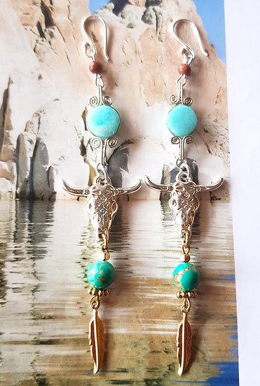 Boucles d'oreilles Nomade Ocean - Collection Boho Love