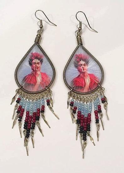 Boucles d'oreilles - Frida Kahlo Mexico
