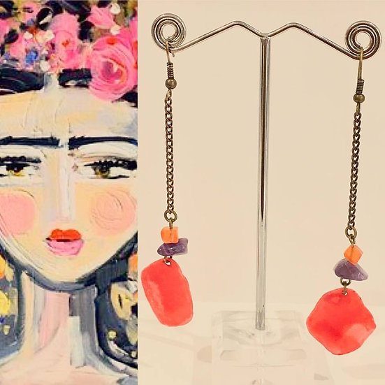 Boucles d'oreilles Coyoacán  - Collection Frida Kahlo