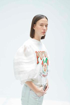 'WALDORF' Puff sleeves t-shirt