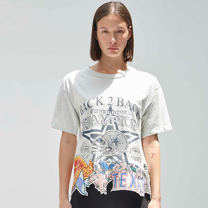 'NED GREY' cropped t-shirt