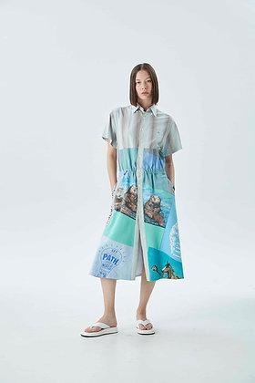 'PENISULA' patchwork dress