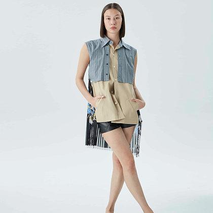 'OKURA' Layers sleeveless shirt