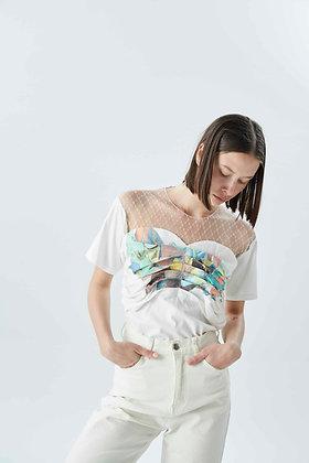 'SOHO' pleated t-shirt