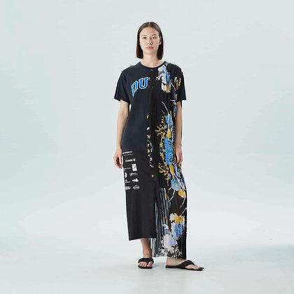'AMAN BLACK' T-shirt dress