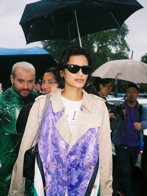 Nothing gonna stop Shaan, rain wet in 'STEFF' jacket Attending Chanel show