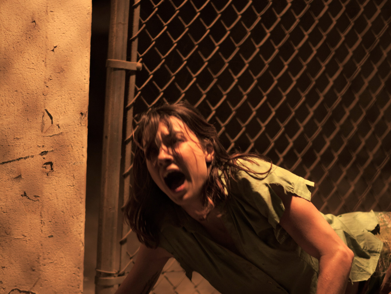 Cortney -Rhonda falls in escape scene.jp
