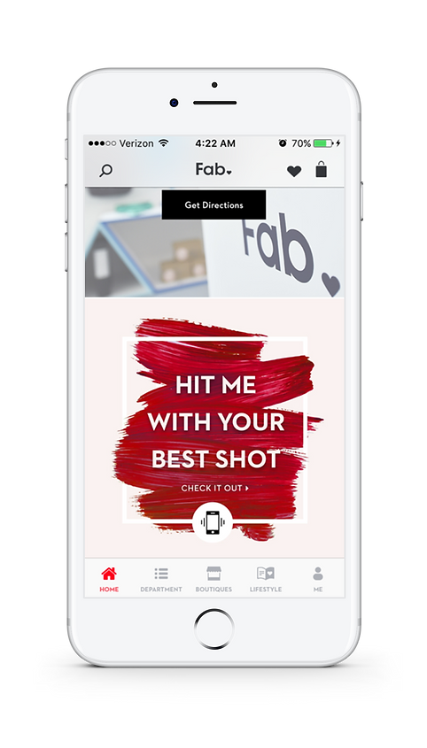 Fab App - Gyroscope feature