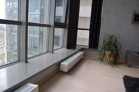Подоконни-диван из искусственного камня