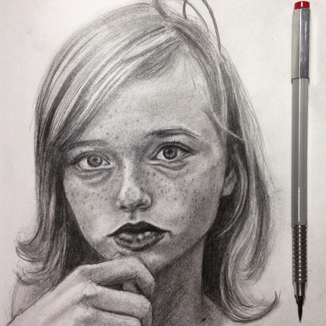 the beautiful _lapislangley #pencil #portrait #practice #pretty #paper #girl #model #pixie #graphite
