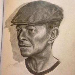 my #bowie #tribute #davidbowie #portrait #pencil #graphite #blackandwhite #silverfox #dapper #gentle
