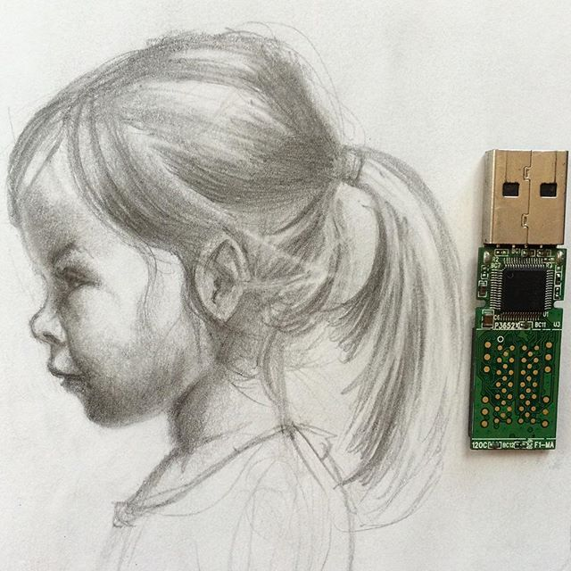 #drawing #portrait #figure #girl #graphite #pencil #practice #small