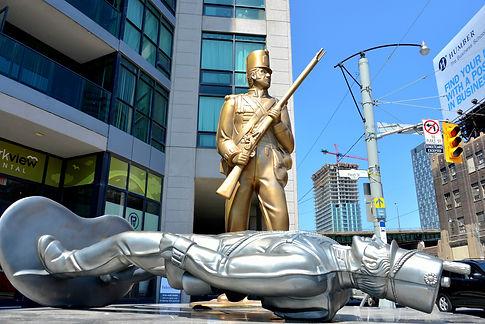 Soldier sculpture enlargement for public art