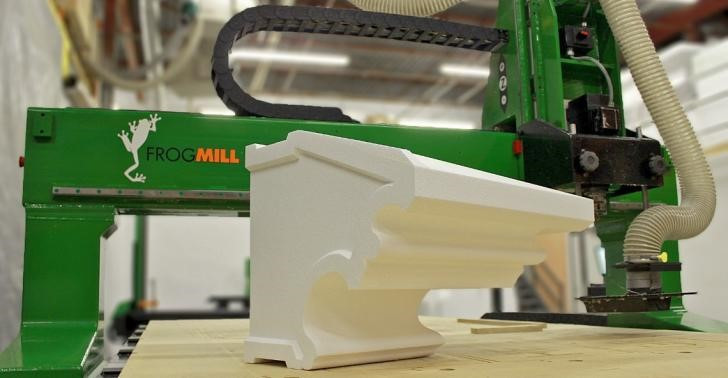 Architecture design elements created using the FROGMill 4-axis CNC Router