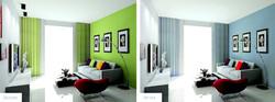 Wonderful-Green-White-Home-Interior