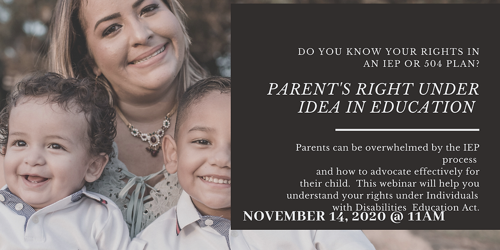Parent's Rights under IDEA In Education