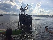 Canoa Caiçara, aulas de canoa havaiana em Santos, aulas de canoage, canoagem, canoa havaiana, canoa havaiana em Santos, Va'a, passeios de canoa havaiana, treinamento corporativo, estudo do meio, canoas havaianas, canoagem, canoagem oceânica, garagem náutica, esporte de aventura, esporte, aventura, lazer, contato com a natureza, relax natural