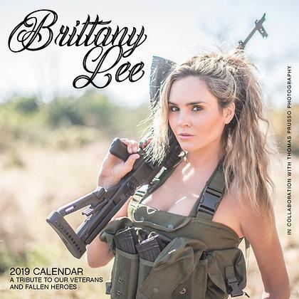 Brittany Lee Signed 15 Month Veterans Appreciation Calendar