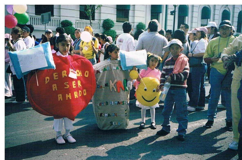 Taller de derechos humanos, desfile los derechos humanos en Av. Paseo de la Reforma 1