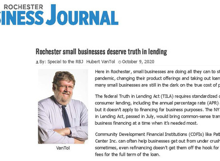 Rochester Business Journal - Truth in Lending