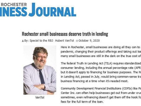 Rochester Business Journal - Truth in Lending