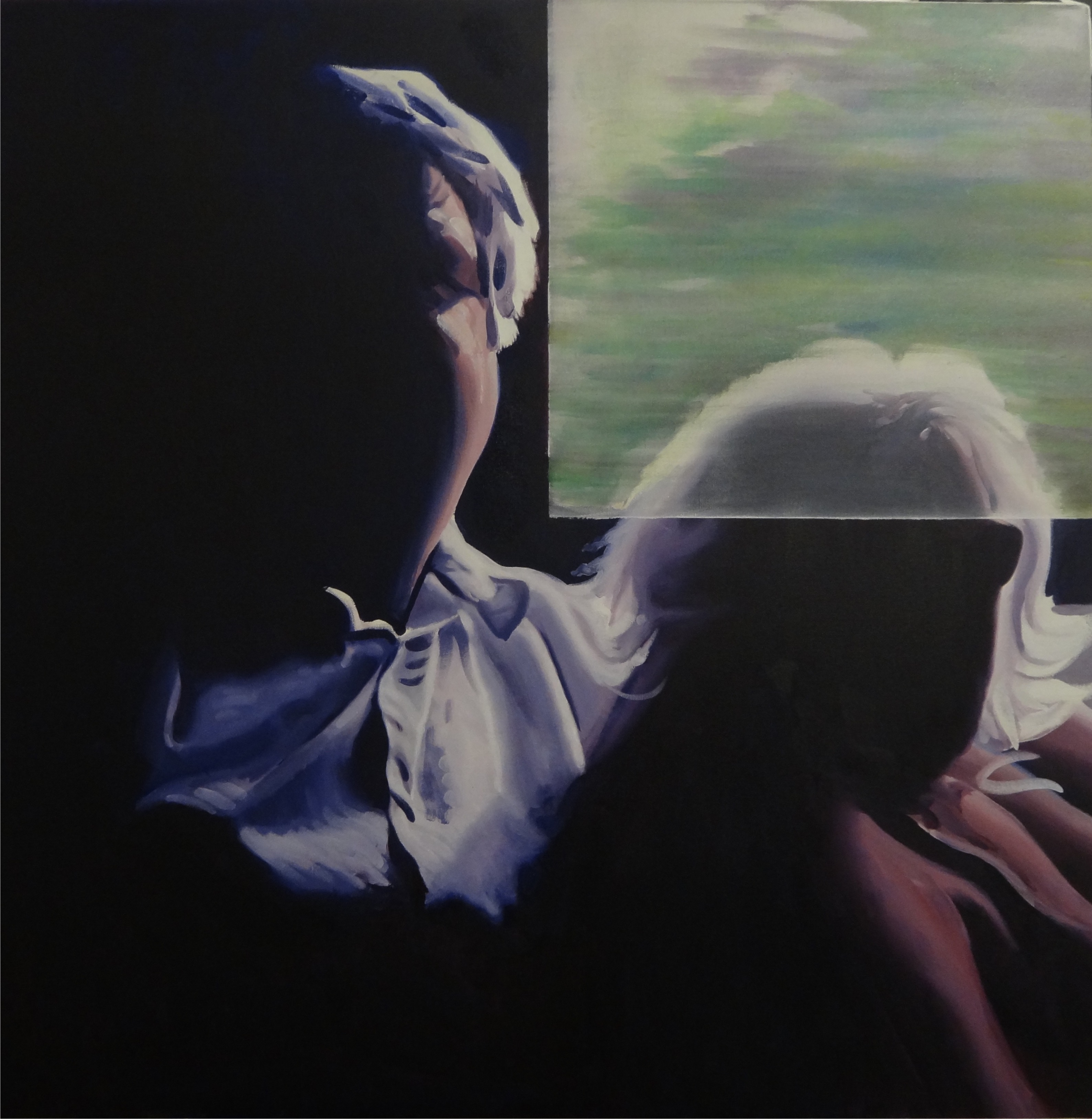 Couple on a Train