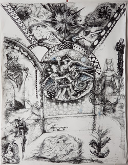Homage to Poussin, 68 x 92 cm