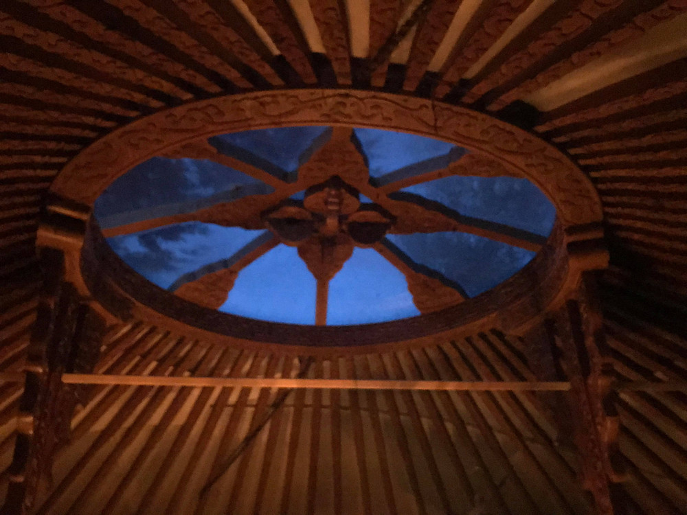 A beautiful yurt space I have hired for mothers blessing ceremonies.