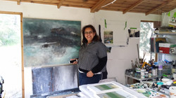Nicki in her studio