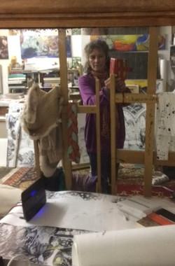Deenagh Miller in her studio