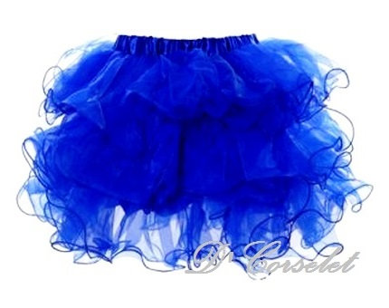 A3-E Blue Ruffled tutu