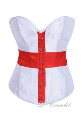 FW3175 Red Cross White Corset