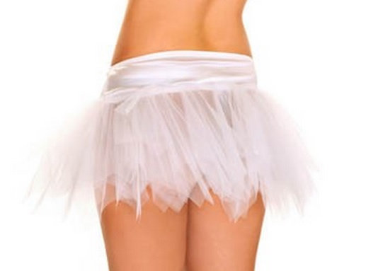 A6-A White Mini Petticoat