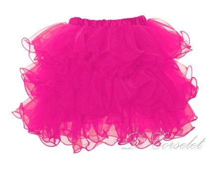 A3-H Hot Pink Ruffled Tutu