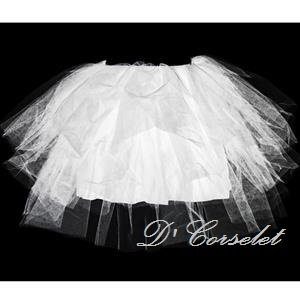 A2-B White Sheer Tutu (with skirting)
